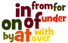 Prepositions – those small useful function words